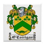 O'Corrigan Family Crest Tile Coaster