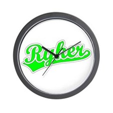 Retro Ryker (Green) Wall Clock