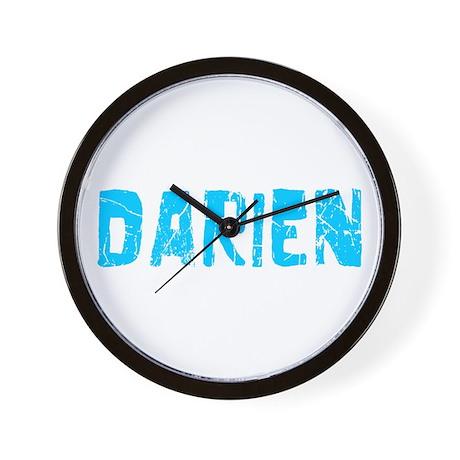 Darien Faded (Blue) Wall Clock