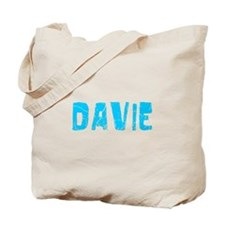 Davie Faded (Blue) Tote Bag