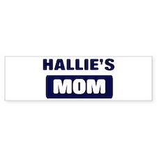 HALLIE Mom Bumper Bumper Sticker