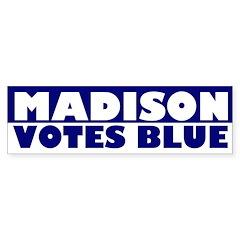 Madison Votes Blue bumper sticker