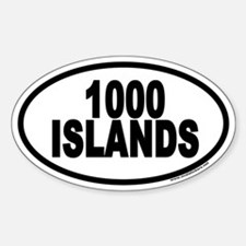 1000 Islands Euro Oval Bumper Stickers
