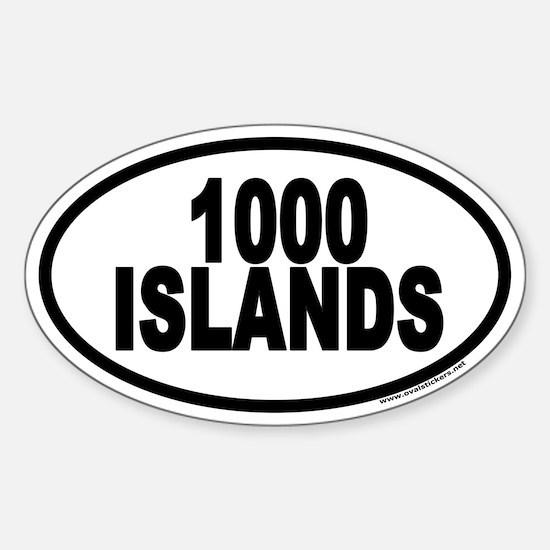 1000 Islands Euro Oval Bumper Stickers