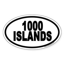 1000 Islands Euro Oval Decal
