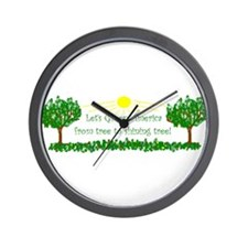 Let's Green America from tree Wall Clock