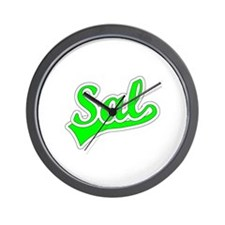 Retro Sal (Green) Wall Clock