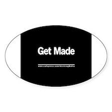 The Knitting Mafia: Get Made Oval Sticker