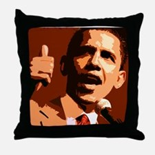 Two Thumbs Up Obama Throw Pillow