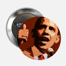 """Two Thumbs Up Obama 2.25"""" Button"""