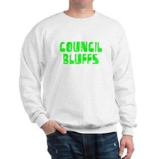 Council Bluffs Faded (Green) Sweatshirt