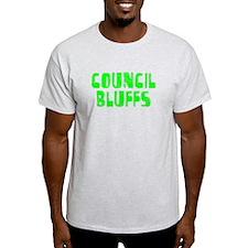 Council Bluffs Faded (Green) T-Shirt