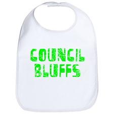 Council Bluffs Faded (Green) Bib