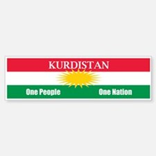 Kurdish Nation Design Bumper Bumper Bumper Sticker
