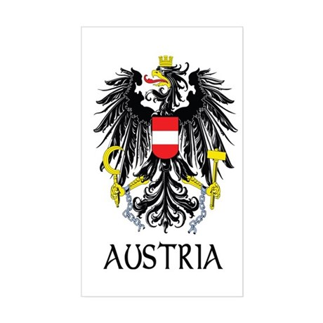 Austria Coat of Arms Rectangle Sticker