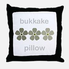 Bukkake Throw Pillow