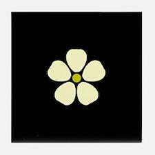 White Flower Tile Coaster