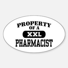 Property of a Pharmacist Oval Decal
