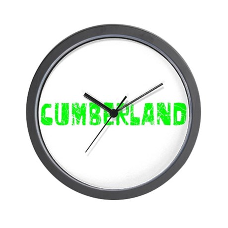 Cumberland Faded (Green) Wall Clock
