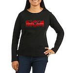 Red Hearted Mom Women's Long Sleeve Dark T-Shirt