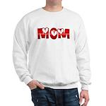Red Hearted Mom Sweatshirt