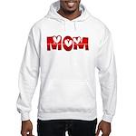 Red Hearted Mom Hooded Sweatshirt