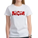 Red Hearted Mom Women's T-Shirt