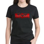 Red Hearted Mom Women's Dark T-Shirt