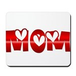 Red Hearted Mom Mousepad