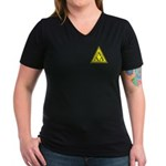 Lambda Lambda Lambda Women's V-Neck Dark T-Shirt