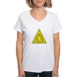 Lambda Lambda Lambda Women's V-Neck T-Shirt