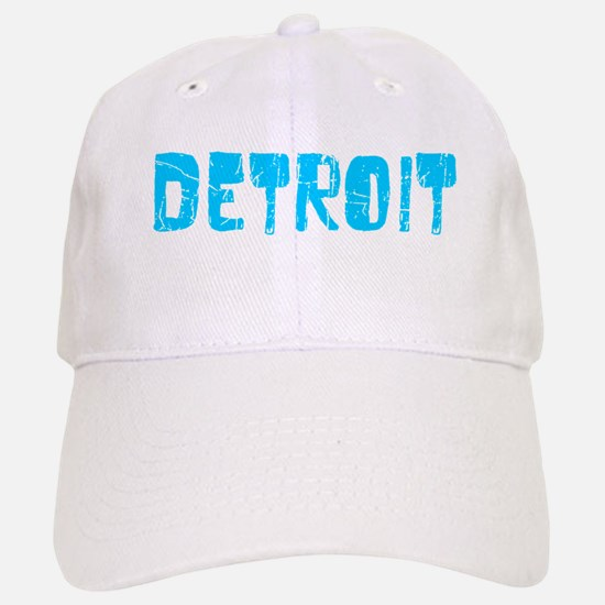 Detroit Faded (Blue) Baseball Baseball Cap
