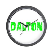 Dalton Faded (Green) Wall Clock