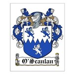 O'Scanlan Family Crest Small Poster