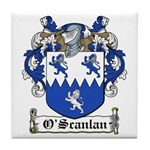 O'Scanlan Family Crest Tile Coaster