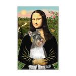 Mona / M Schnauzer Mini Poster Print
