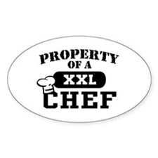 Property of a Chef Oval Decal