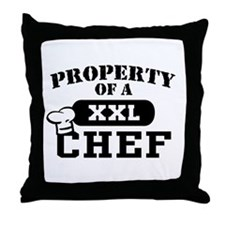 Property of a Chef Throw Pillow