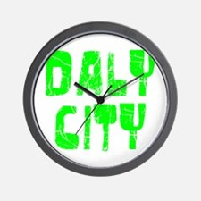 Daly City Faded (Green) Wall Clock