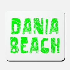 Dania Beach Faded (Green) Mousepad