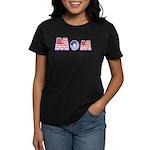 Red/White/Blue Mom Women's Dark T-Shirt