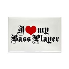 I Love My Bass Player Rectangle Magnet
