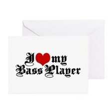 I Love My Bass Player Greeting Cards (Pk of 10)