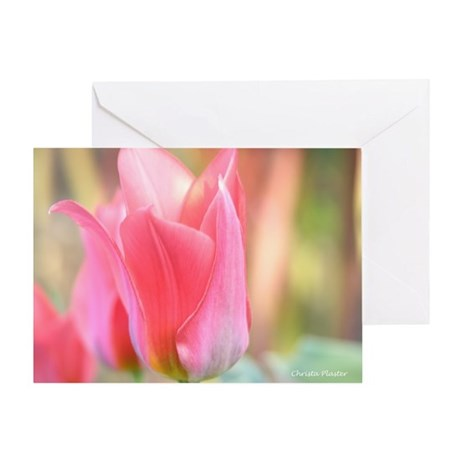 Ballerina Tulip Blank Greeting Card
