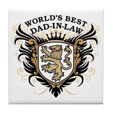 World's Best Dad-In-Law Tile Coaster
