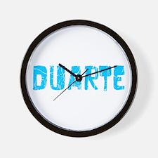 Duarte Faded (Blue) Wall Clock