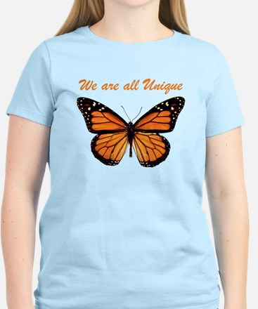 We Are All Unique: Butterfly Women's Light T-Shirt