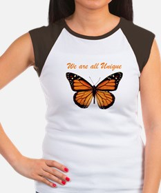 We Are All Unique: Butterfly Women's Cap Sleeve T-