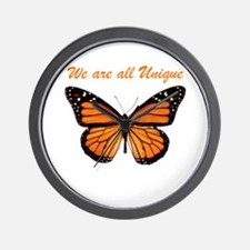 We Are All Unique: Butterfly Wall Clock