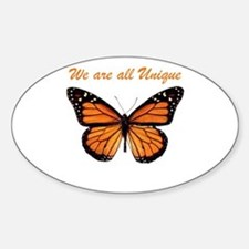 We Are All Unique: Butterfly Oval Decal